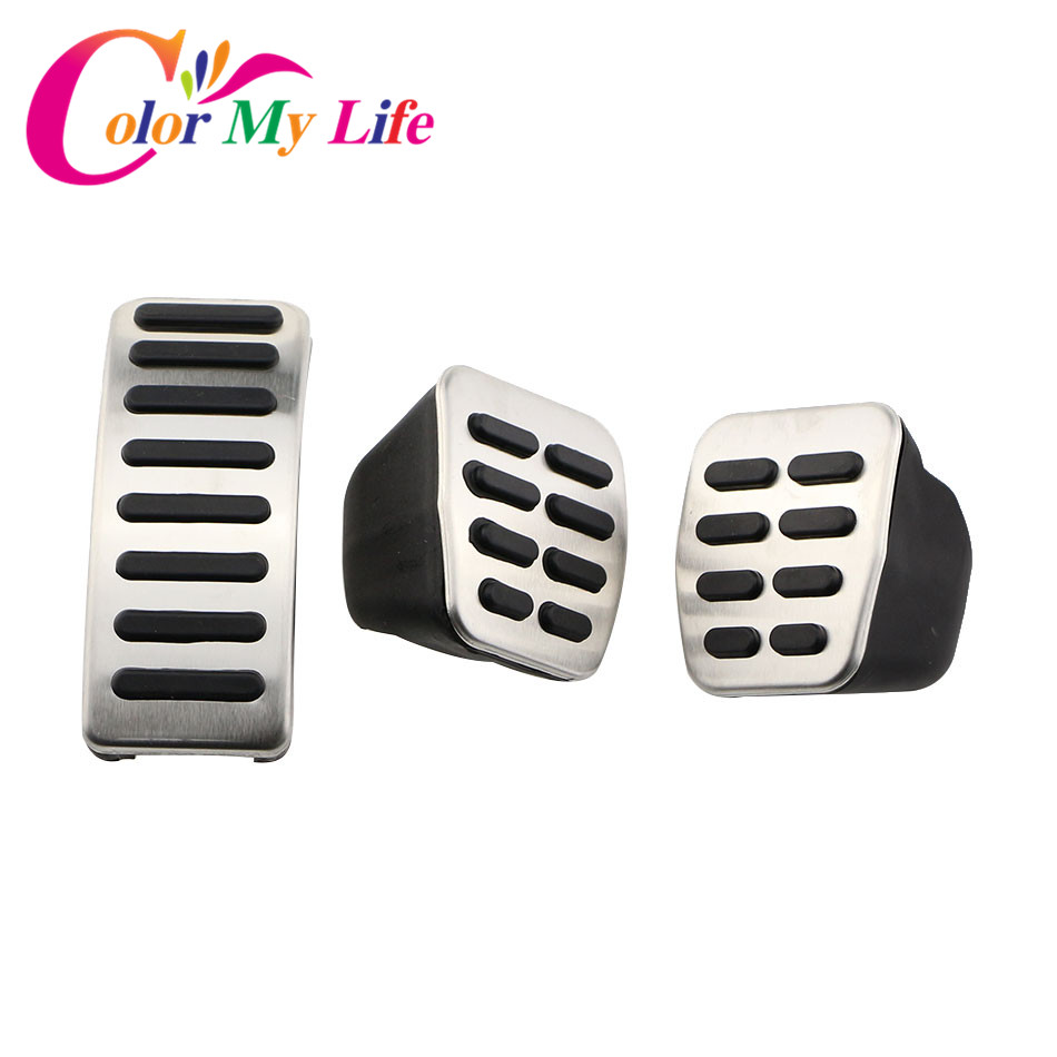 Aluminous Alloy Car Gas Brake Pedal Cover Pedal Pads For Skoda Fabia I 1999-2007 Fabia II 2007- Octavia 1U 1996-2010 Roomste speedwow electric master window switch for skoda fabia 6y skoda octavia a4 1u 1999 2009 vw golf 1999 2005 1j3959857a