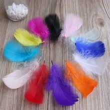 Hermosa pluma de ganso tenido DIY dia De Navidad decorar 50 raiz la venta 5-10 cm 2-4 pulgadas
