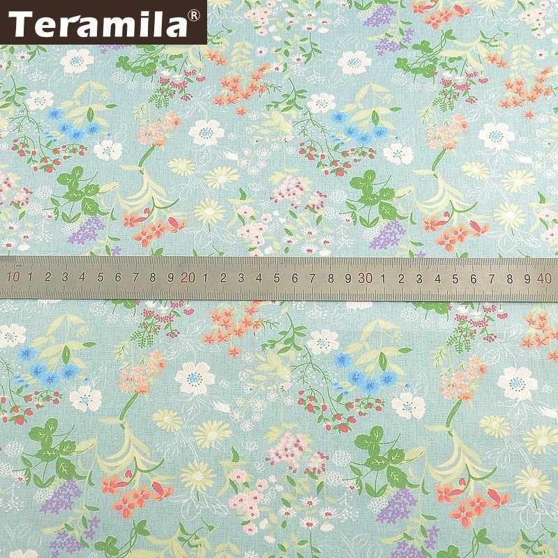 Teramila 100% 코튼 패브릭 미터 꽃 telas algodon ankara 패브릭 diy tissus 드레스 패치 워크 퀼트 beedsheet 쿠션 베이비