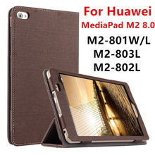 Funda para huawei mediapad m2 8.0 protectora cubierta elegante de cuero de la tableta de huawei m2-801w 801l m2-803l m2-802l casos puprotector