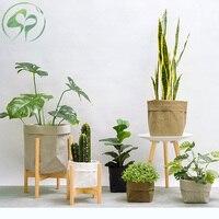 Simulation Bonsai Decorative Washable Kraft Paper Flowerpot Creative Desktop Flower Fake Green Pot Plants Ornaments Home Decor