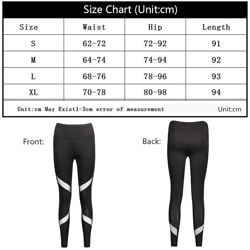 NANCY TINO Black Yoga Pants Quick drying Net Yarn High Waist Elastic Running Fitness Slim Sport Pant Gym Leggings Women Trousers in Yoga Pants from Sports Entertainment