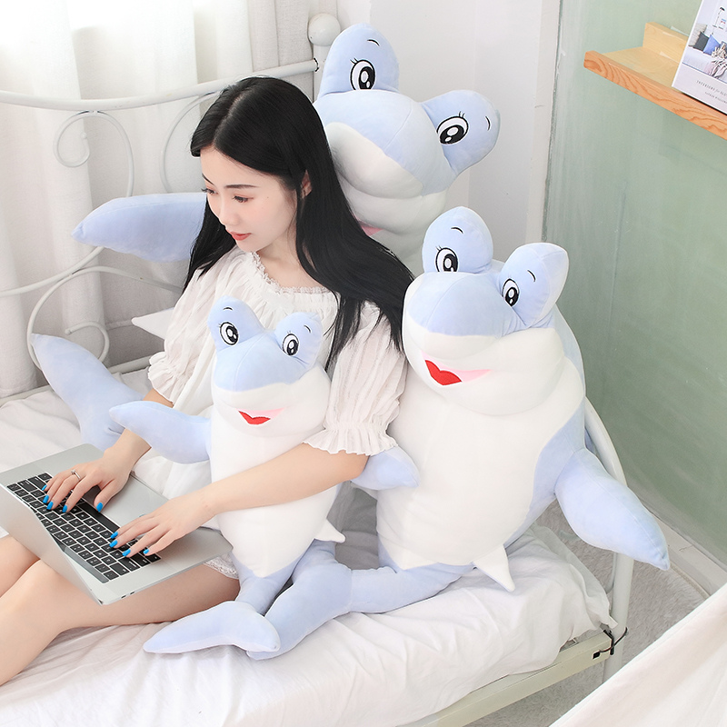 Hot 60 90cm Giant Shark Plush Shark Whale Stuffed Fish Ocean Animals Kawaii Doll Toys For Children Kids Cartoon Toy Baby 39 s Gift in Stuffed amp Plush Animals from Toys amp Hobbies