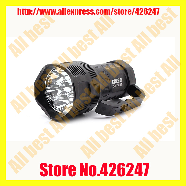 TrustFire TR-S700 7 x Cree XM-L T6 1-Mode 5000lm Cool White Portable Flashlight - Black (3 x 26650) yp 3006 500lm 3 mode white headlamp w cree xm l t6 black silver 1 2 x 18650