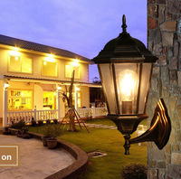 The balcony lamp European Garden aisle wall outdoor luxury villa courtyard background waterproof