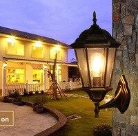 The balcony lamp European Garden aisle wall outdoor luxury villa courtyard background waterproof