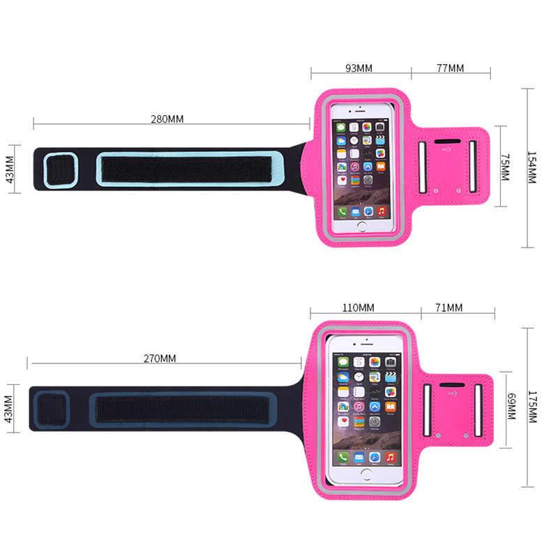 Funda deportiva de banda para el brazo para Iphone 6 6S 4,7 pulgadas brazalete para el gimnasio protección de piel completa para el brazo funda de moda para teléfono