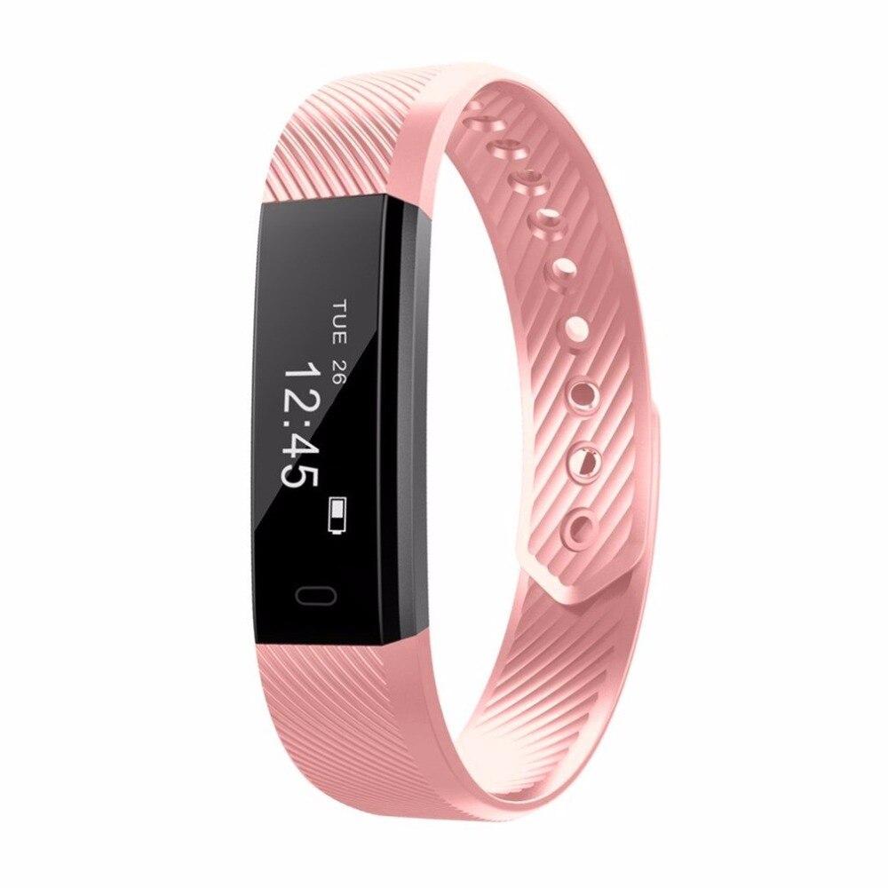 HOT ID115 Intelligente Wristband Bluetooth 4.0 Inseguitore di Fitness Frequenza Cardiaca Orologio Contapassi Sonno Monitor Sport Braccialetto Intelligente Banda
