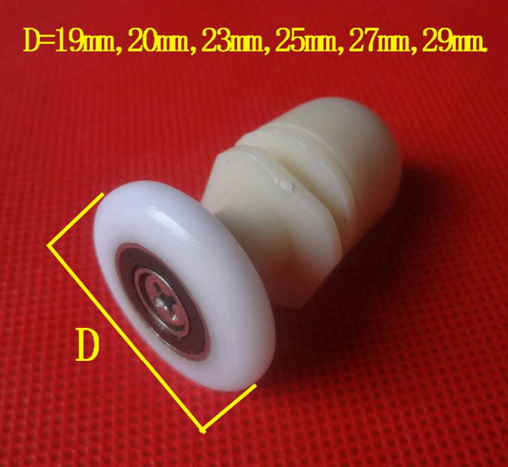 4Pcs Set Single Shower Door Rollers Runners Wheels 19mm 23mm 25mm 27mm Diameter