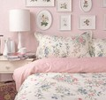Amerikanischen rustikalen prinzessin rosa floral bett sets,4pc königin könig größe baumwolle, französisch pastoralen hause textil blatt kissen bettbezug