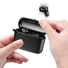 Invisible Bluetooth Headset 5.0 Wireless Dual Ear In-Ear Mini Charge Box TWS rue wireless earphon Stereo