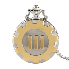 Buy Classic Theme Quartz Pocket Watch Fallout 4 Game Vault 111 Vintage Bronze Luxury Gold Women Man Necklace Pendant for Gift directly from merchant!