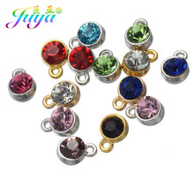 30 Pcs/lot Wholesale Berlian Imitasi Pesona Warna-warni Birthstone Berlian Imitasi Liontin untuk Wanita Anting-Anting Kalung Gelang Membuat(China)