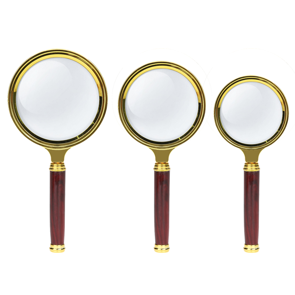 Handheld 10X Magnifier Magnifying Glass Loupe High Definition Reading Eye Loupe Magnifying Glass Magnifier for Jewelry 80-60mm