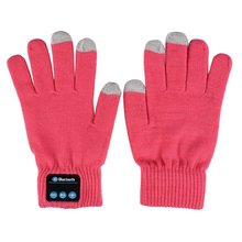 4Colors Unisex Bluetooth Gloves Knit Warm Mittens Call Talking Gloves Mobile Phone Pad