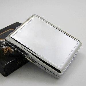 Image 5 - 4Pcs  Blank 20 Cigarette Box Case Stainless Steel Tobacco Tube Storage Pocket Box Holder Handy Portable DIY  Free Shipping