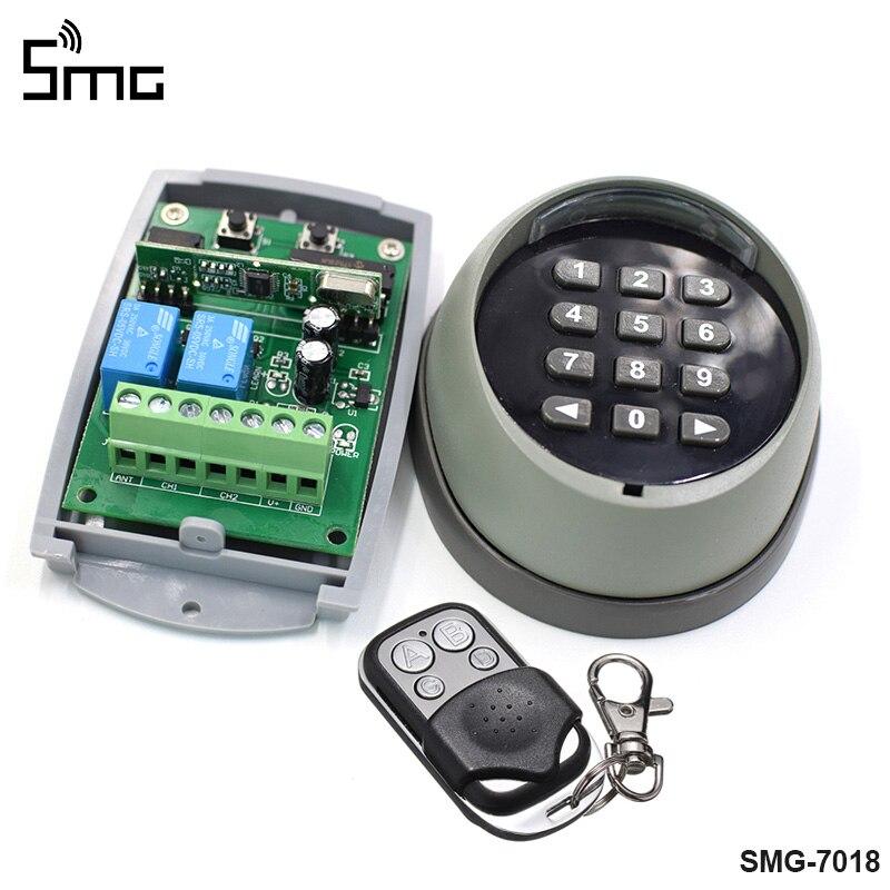 Télécommande et récepteur de commutateur de mot de passe de clavier sans fil pour le contrôle d'accès de porte de porte de garage 433MHz de haute qualité