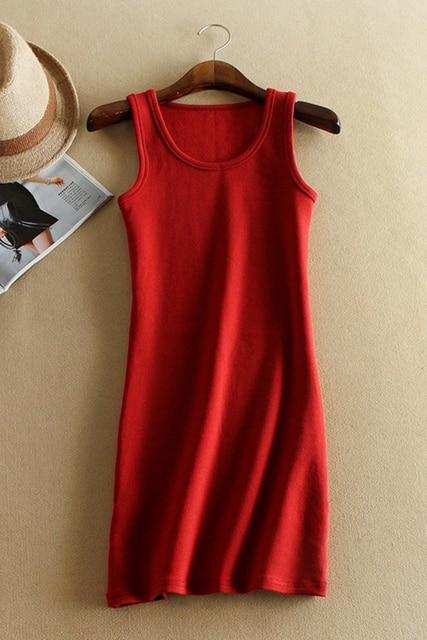 6 Color women autumn winter sleeveless solid color Tops & Tees cotton Tops  women ladies Vest