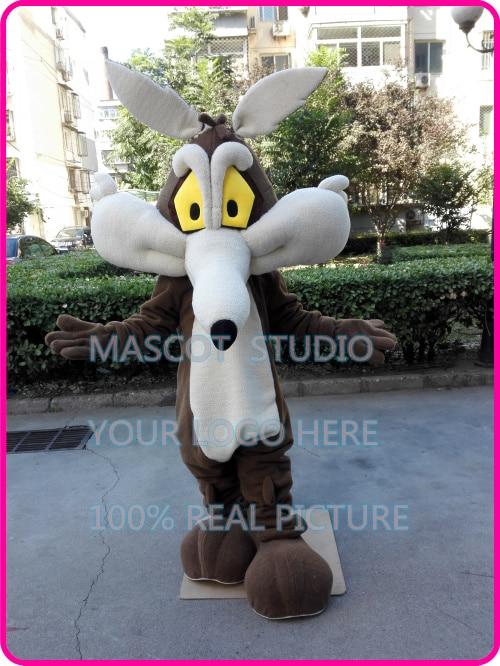Wile E. Coyote mascot cartoon costume custom fancy costume anime cosplay kits mascotte cartoon theme fancy dress 41394