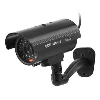 Fake Dummy Camera Bullet Waterproof Outdoor Indoor Security CCTV Surveillance Camera Flashing Red LED Light Fake Camera