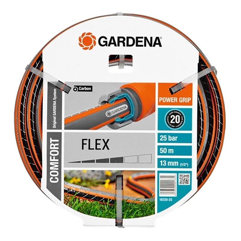 лучшая цена Hose поливочный GARDENA 18039-20.000.00 (Length 50 m, diameter 13mm (1/2) maximum pressure 25 bar, reinforced, светонепроницаем, resistant to ultraviolet radiation)
