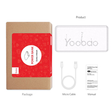 Yoobao Power Bank 10000 mAh For Xiaomi Mi5 Slim Powerbank Portable Charger External Battery For iPhone 7 Poverbank For Samsung 8