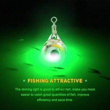 1Pc LED Deep Drop Underwater Eye Shape Fishing Squid Fish Lure Light Flashing Lamp