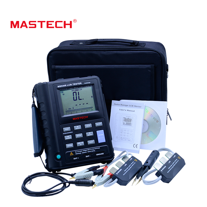 Mastech MS5308 LCR Tester Capacitance Resistance Tester Handheld Autorange rofessional Auto Range Digital LCR Meter mastech my6243 portable 3 1 2 1999 count digital lcr meter inductance capacitance tester