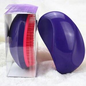 Image 5 - Sıcak tarzı kolu dolaşık açıcı tarak arapsaçı saç fırçası fare combo profesyonel sihirli doğrultma tarak Salon Styling Tamer aracı
