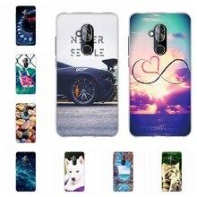 For Alcatel 7 Cover Ultra-slim Soft TPU Silicone 6062W 6763T L0925 Case Cute Cat Patterned alcatel Coque Bag