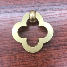 Flower Drop Ring Brass Drawer knobs Pull Handle cabinet  Kitchen Door Furniture Hardware