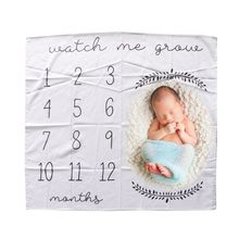 Baby Blanket Newborn Swaddle Stroller Bedding Wrap New Photo Background Monthly Growth Number Photography