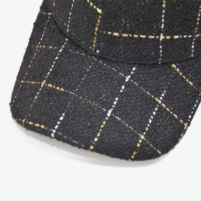 Gorra de béisbol COKK moda mujer Plaid negro blanco Snapback sombreros para mujeres papá sombrero mujer Hip Hop gorra casqueta Gorras hueso