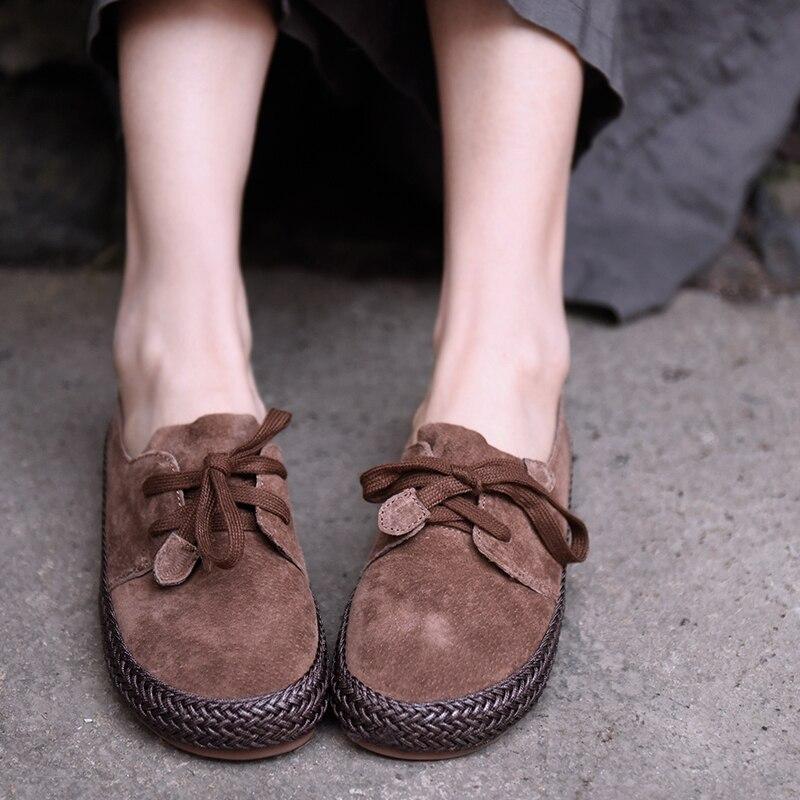 Artmu 2019 Frühling Neue Weiche Tiefen Mund Frauen Schuhe Bequeme Beiläufige Schuhe Leder Handgemachte Flache Schuhe 608 3-in Flache Damenschuhe aus Schuhe bei  Gruppe 1