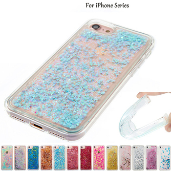 Funda Purpurina Original Liquida Agua para iPhone 4 / 5 / 6 / 6