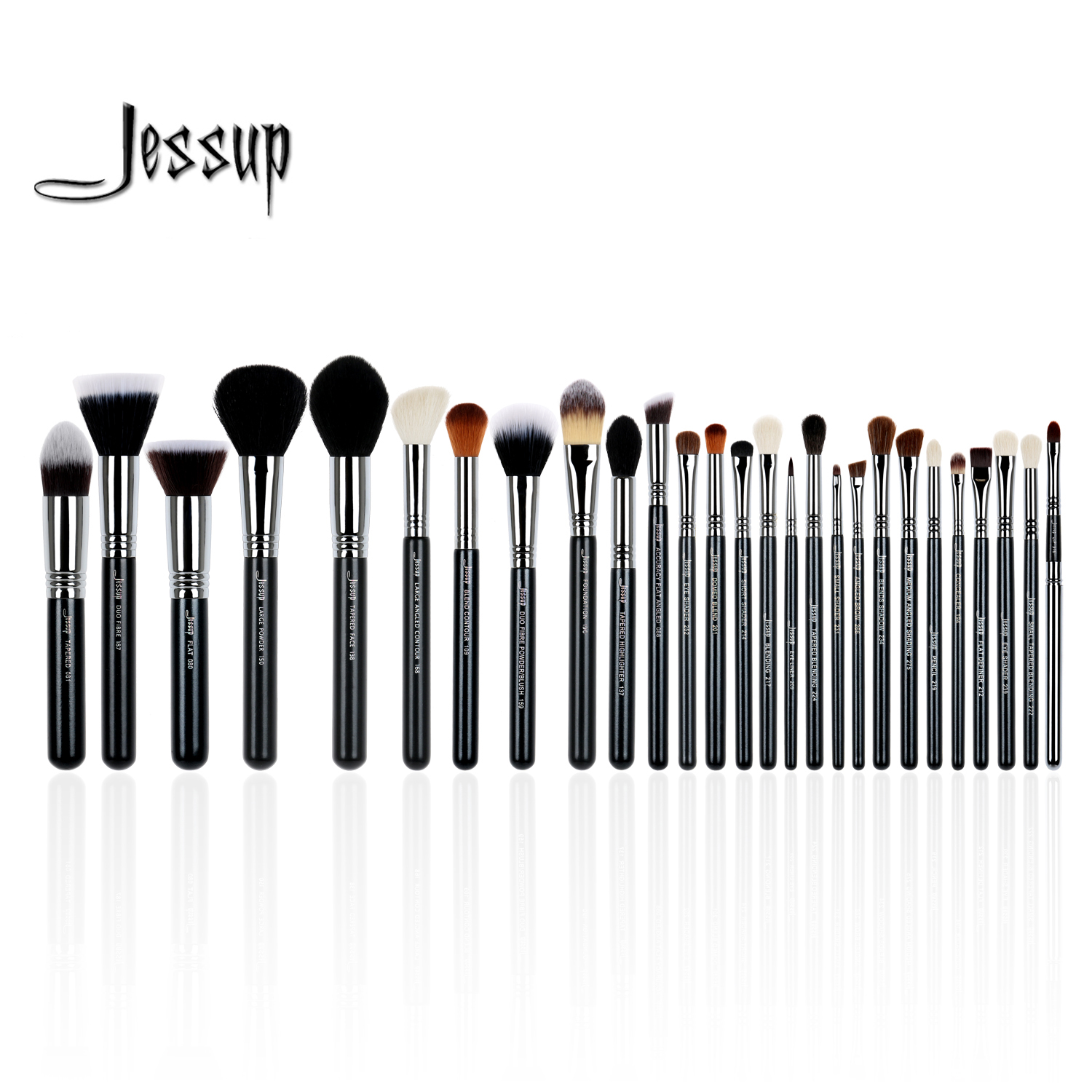 Jessup ensemble 27 pcs Ensemble Professionnel Maquillage Brush Set Beauté Eye Foundation Visage Ombre Rouges À Lèvres Poudre Make Up Kit Outils t133