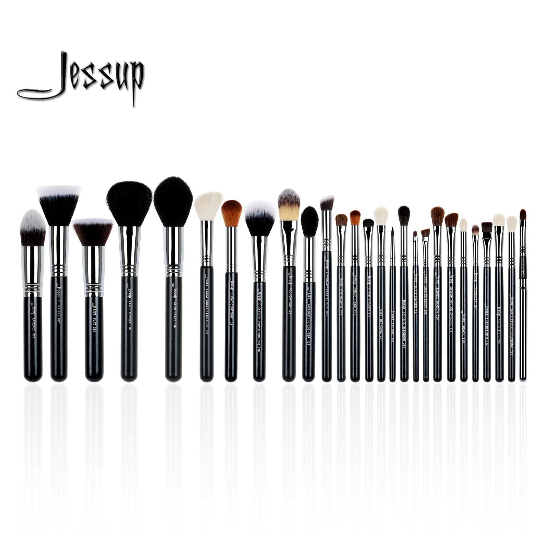 Jessup ensemble 27 pcs Ensemble Professionnel Maquillage Brush Set Beauté Eye Foundation Visage Ombre Rouges À Lèvres Poudre Make Up Kit Outils t133