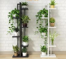 Orchid shelf of green lotus, living room bedroom flower shelf, multi-storey indoor iron balcony