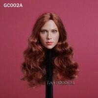 1/6 Black Widow Scarlett Johansson Head Sculpt Blonde/Long Brown Hair GC002A Female Head Model Fit 12 Inch Phicen HTtoys Figure