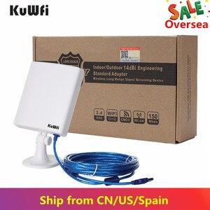 Image 3 - 2.4G WiFi Adaptador USB 150 Mbps de Longa Distância Wifi Antena de Alta Potência Placa de Rede Sem Fio Receptor Wifi De Mesa Com Cabo de 5 m