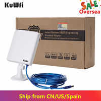 2,4G WiFi 150Mbps de larga distancia Wifi adaptador de alta potencia al aire libre inalámbrico USB Wifi adaptador de escritorio Wifi receptor con cable de 5m