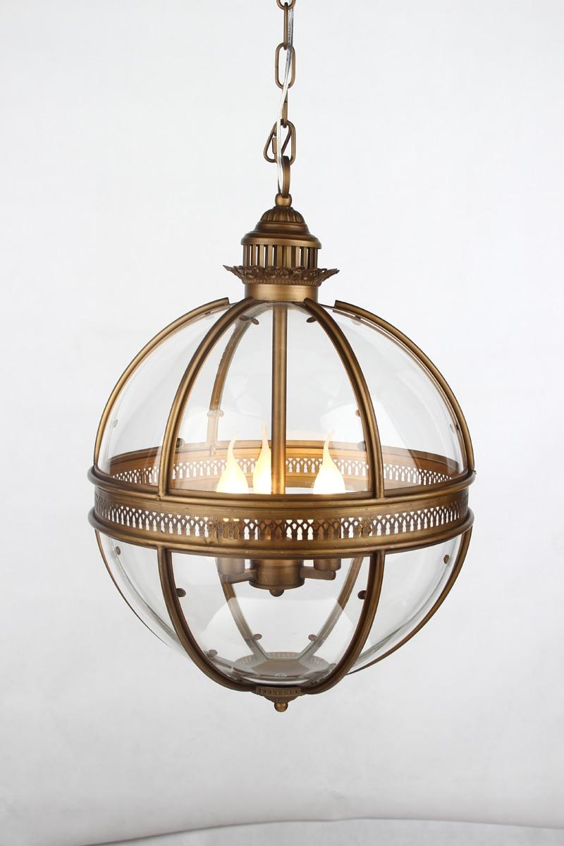 Schmiedeeisen Glas Lampenschirm Pendelleuchte Kreative ...