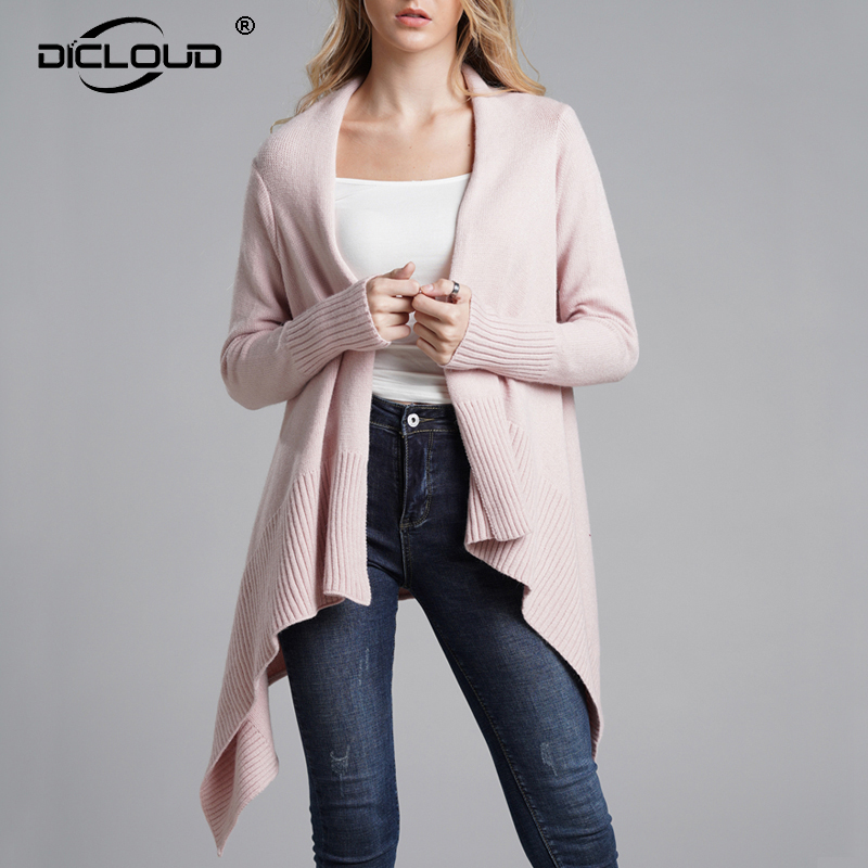 39d5ada78f8885 2018 Autumn Long Knitted Women Cardigan Elegant Women Pink Winter Shrug Sweaters  Jacket Coats Female Oversized Warm Outerwear