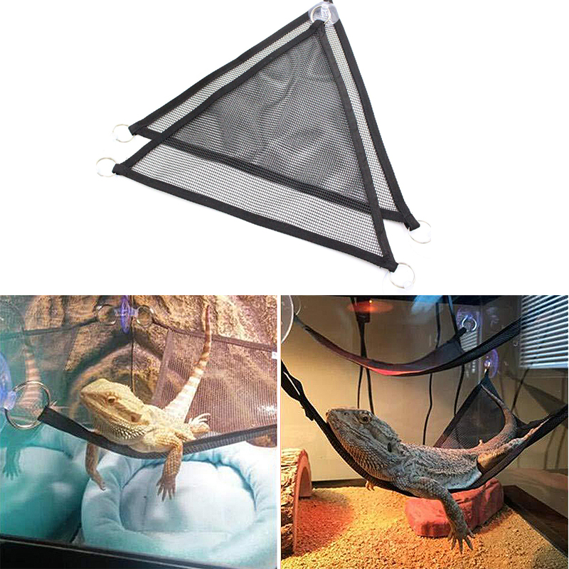 Reptile Hammock Mesh Sleeping Bed Play Toys Oxford Fabric Swing Climb Products for Snake Lizard Supplies Decoration