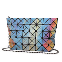 Frauen Plaid Laser Tasche Geometrischen Umhängetaschen Casual Mini Kupplung Bao Bao Crossbody Ketten Taschen für Frauen Umhängetasche mit Logo