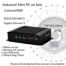 Dual COM Dual LAN Fanless Mini PC Intel Celeron J1900 RS232,422,485 COM USB WIFI industrial PC Desktop Computer