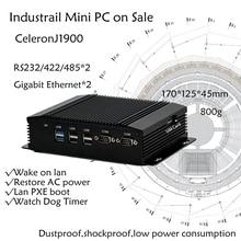 Intel Celeron j1900 Mini PC Finestre HDMI + VGA Mini PC Finestre 7/8 OS RS232 COM * 2 del computer Industriale