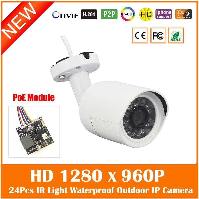 Hd 960p 1.3mp Bullet Poe Ip Camera Outdoor Security Onvif Waterproof Night Vision 24pcs Infrared Surveillance Freeshipping Hot hd 1 3mp ip camera ptz bullet 4x zoom 960p hd project night vision outdoor waterproof ircut onvif p2p onvif poe hiseeu