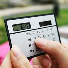 Dígitos do Cartão de Crédito Carteira Portátil Mini 8 Ultra Slim Tamanho Calculadora de Bolso Energia Solar Venda Quente