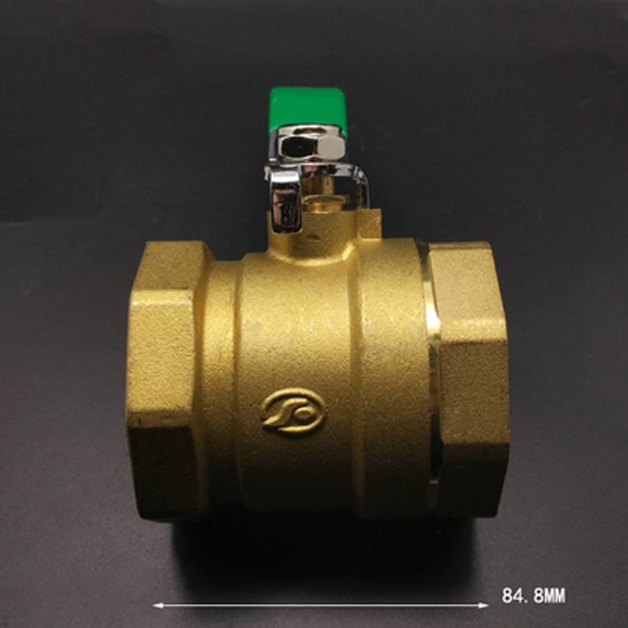 Ventil Diplomatisch Dn50 2 bsp Female Mid-körper Messing Kugelhahn Wasser Gas Mit Griff